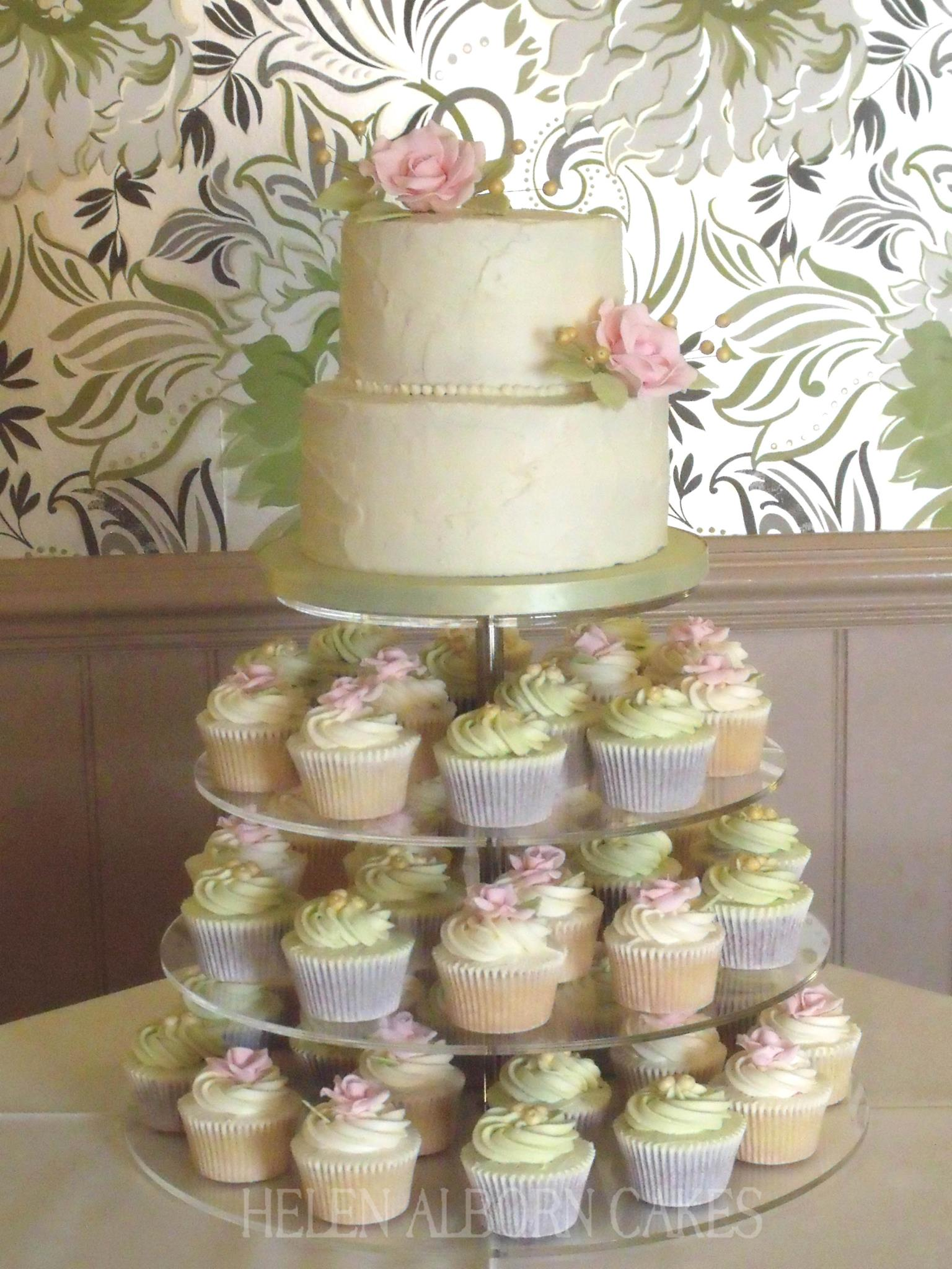Buttercream Wedding Cake by Helen Alborn Cakes