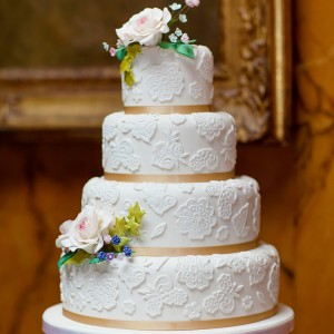 Wedding Cake By Helen Alborn Cakes, Leicestershire