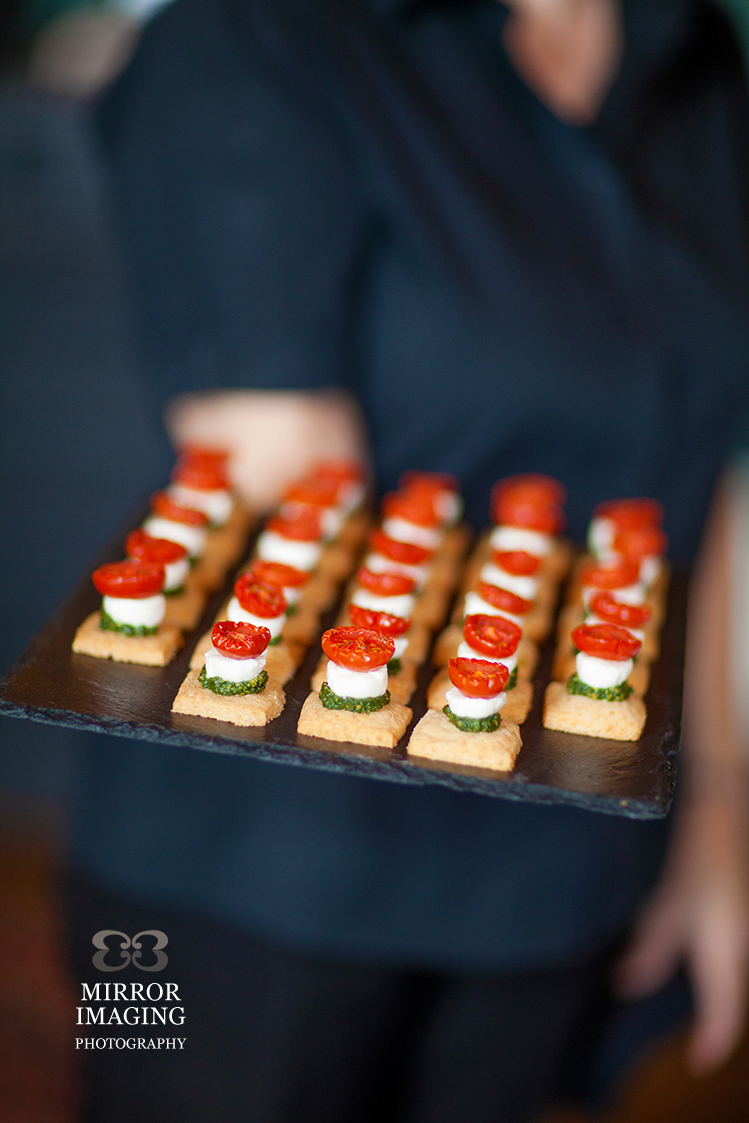 Canapés At Prestwold Hall Wedding Fair In Leicestershire