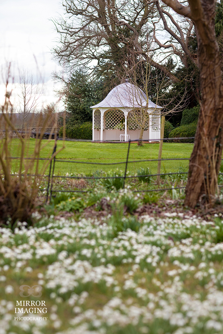 Wedding Gazebo At Prestwold Hall Leicestershire