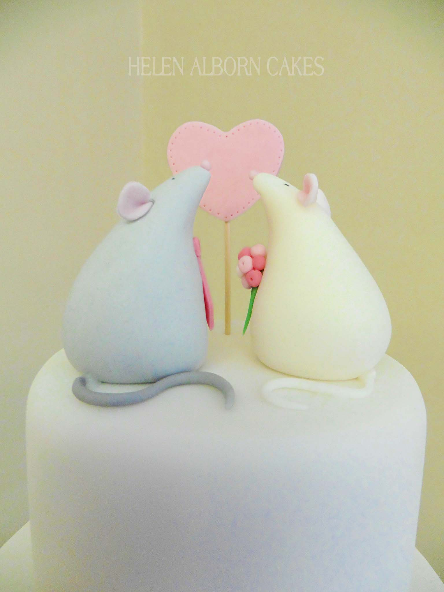 Mice Wedding Cake by Helen Alborn Cakes