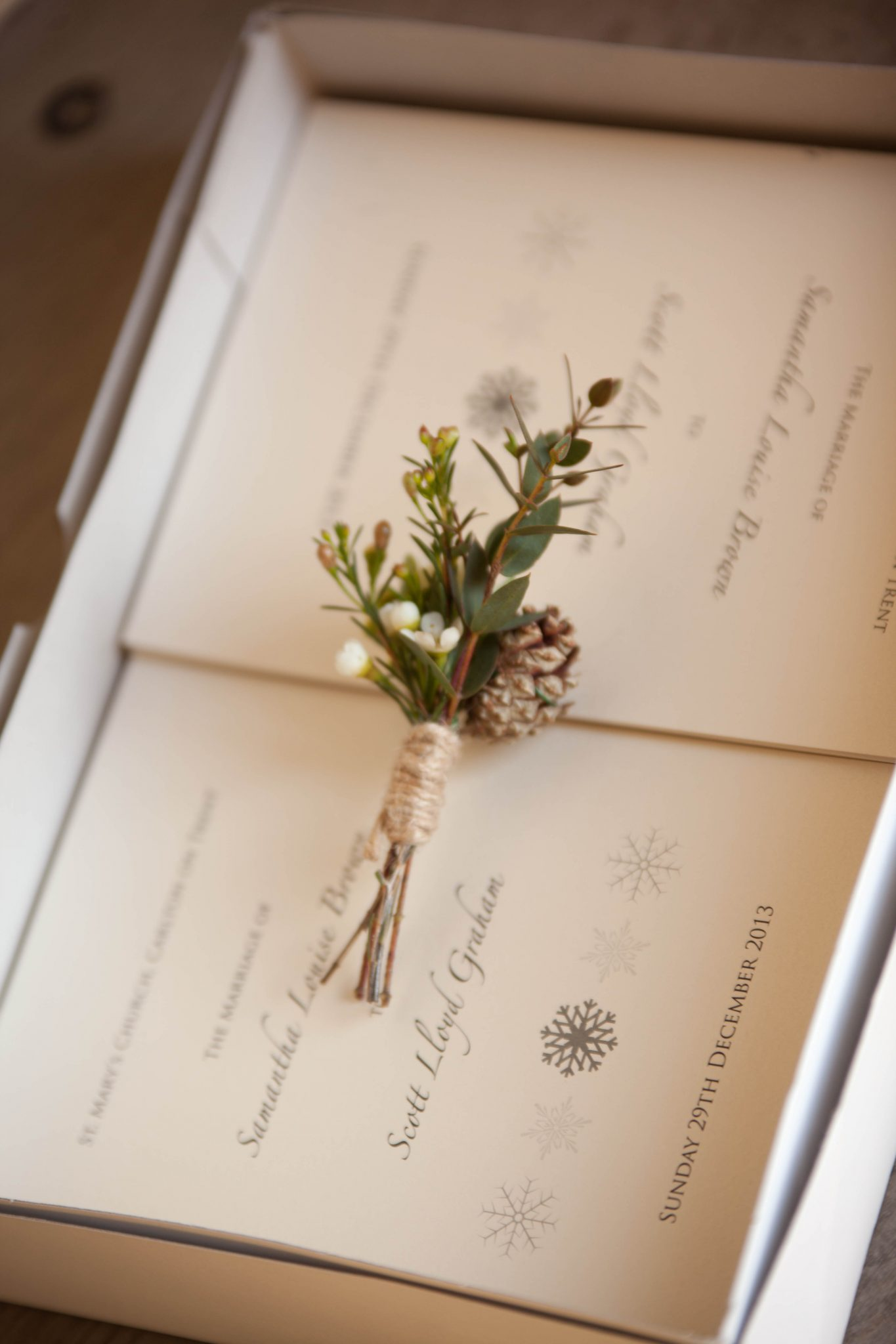 Winter Buttonhole By Mrs Umbels, Nottinghamshire