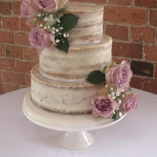 Semi-naked Wedding Cake By Helen Alborn Cakes