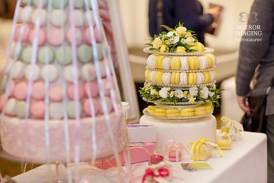 Yellow And Pink Macarons