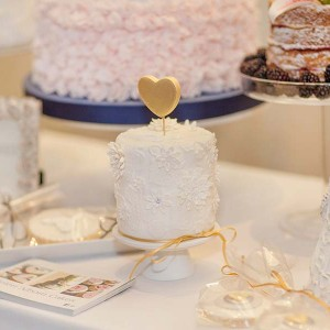 Mini Cake With Gold Heart