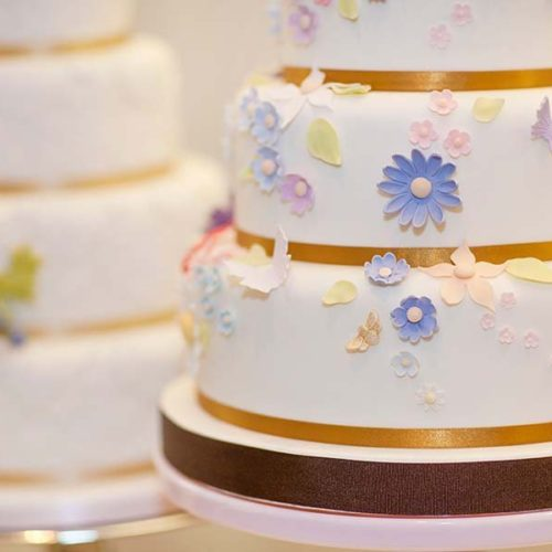 Wedding Cake With Sugar Flowers