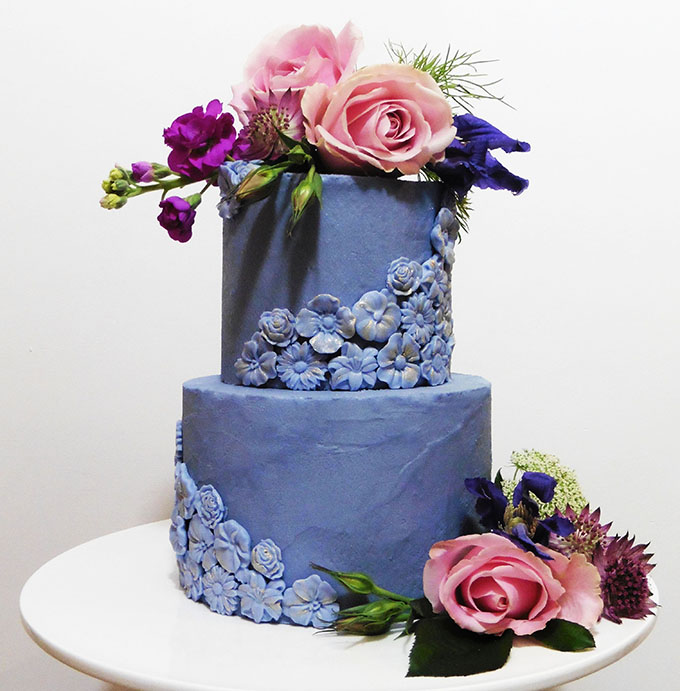 Wedding Cake By Helen Alborn Cakes Leicestershire
