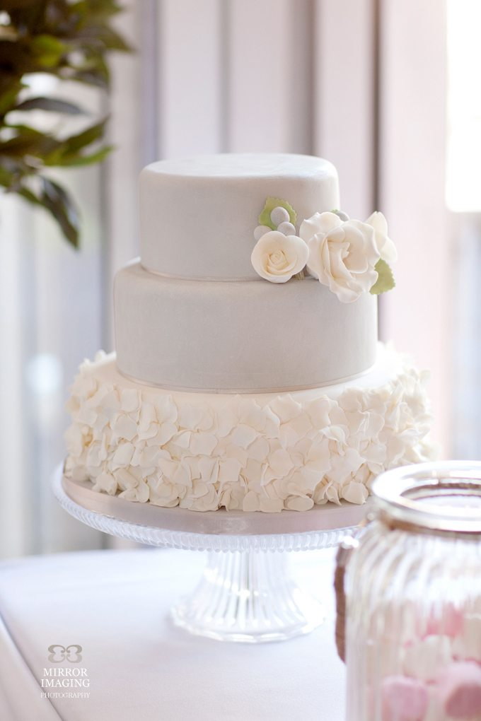 Pale Blue Wedding Cake