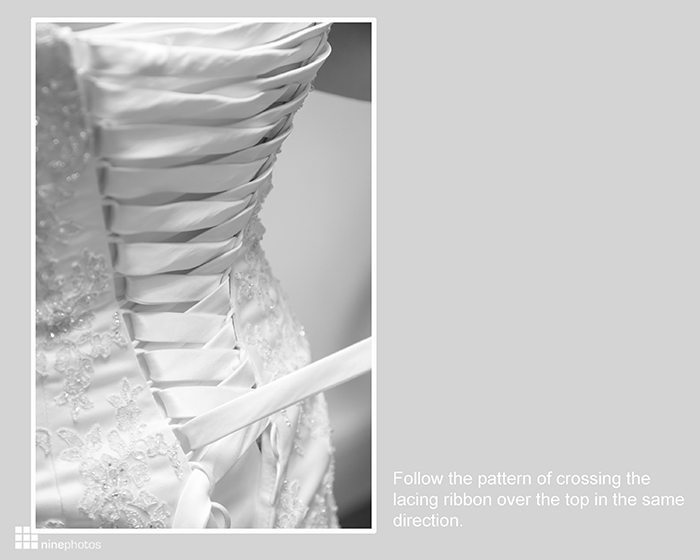 Step By Step Instructions How To Lace A Wedding Dress
