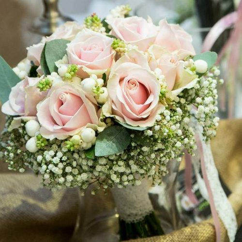 Pink Roses Bouquet By Julia Dilworth Florals, Wedding Flowers Leicestershire