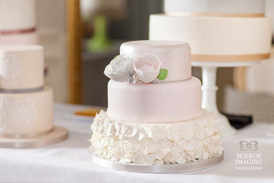 3 Tier Pink Wedding Cake