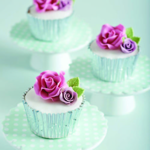 Cupcake With Bright Flowers