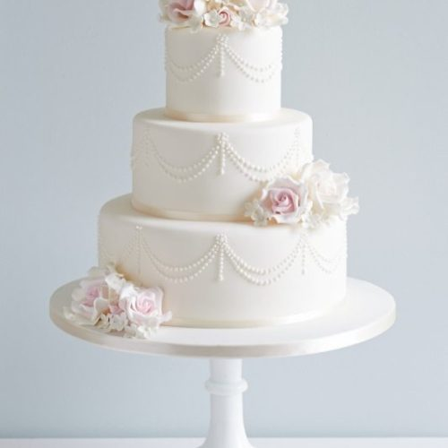 Rose 3 Tier Wedding Cake
