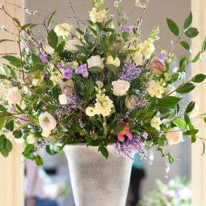 Wedding Flowers Arrangement In Urn