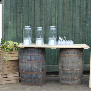 Barrel And Chalkboard Hire