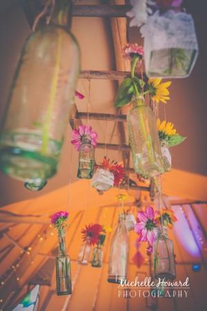 Vintage Bottles At Wedding