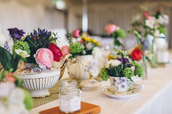Vintage China And Flowers