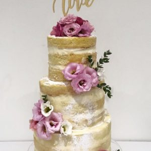 Naked Cake And Flowers By Victoria's Cake Company