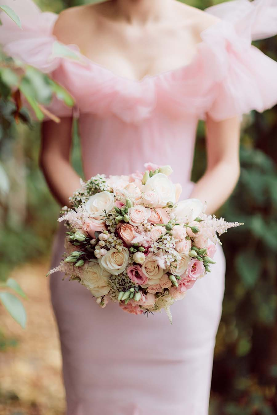 Pink Wedding Dress, Cape And Crown By Chantal Mallet | Lace Wedding Dress By Katya Katya Shehurina | Sanshine Photography