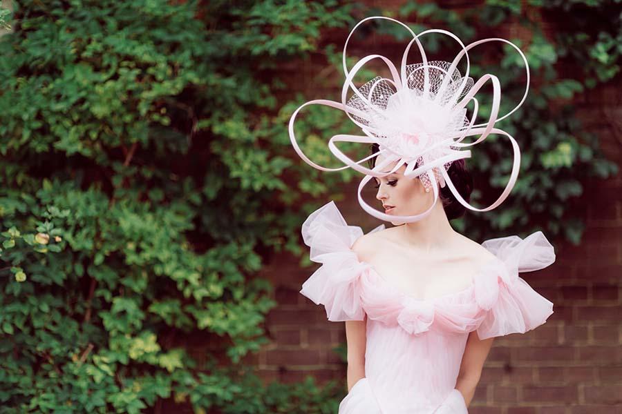 Pink Wedding Dress, Cape And Crown By Chantal Mallet | Lace Wedding Dress By Katya Katya Shehurina | Sanshine Photography