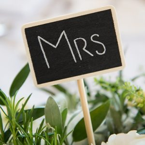 MRS SIGN CHALKBOARD, BRADGATE FLOWERS, LEICESTERSHIRE