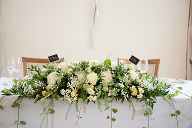 TOP TABLE FLOWERS, BRADGATE FLOWERS, LEICESTERSHIRE