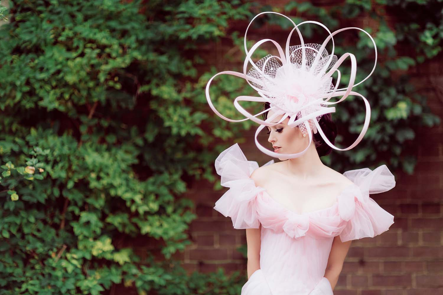Styled Shoot: Utterly Romantic Pink Couture Wedding Dress And Accessories By Chantal Mallett