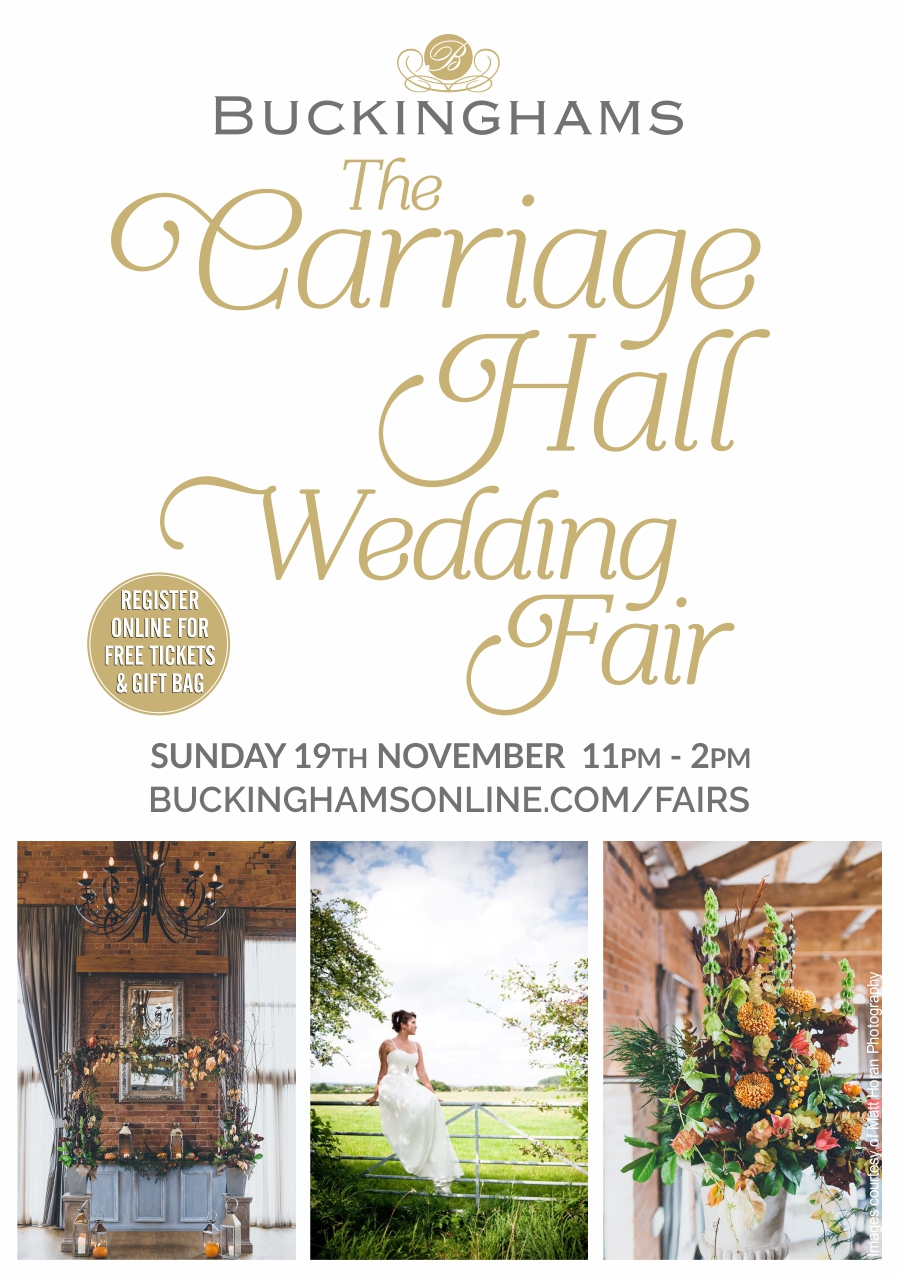 The Carriage Hall Wedding Fair – Sun 19 Nov 2017