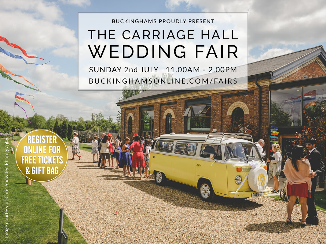 Register For The Carriage Hall Summer Wedding Fair – Sun 2 July 2017