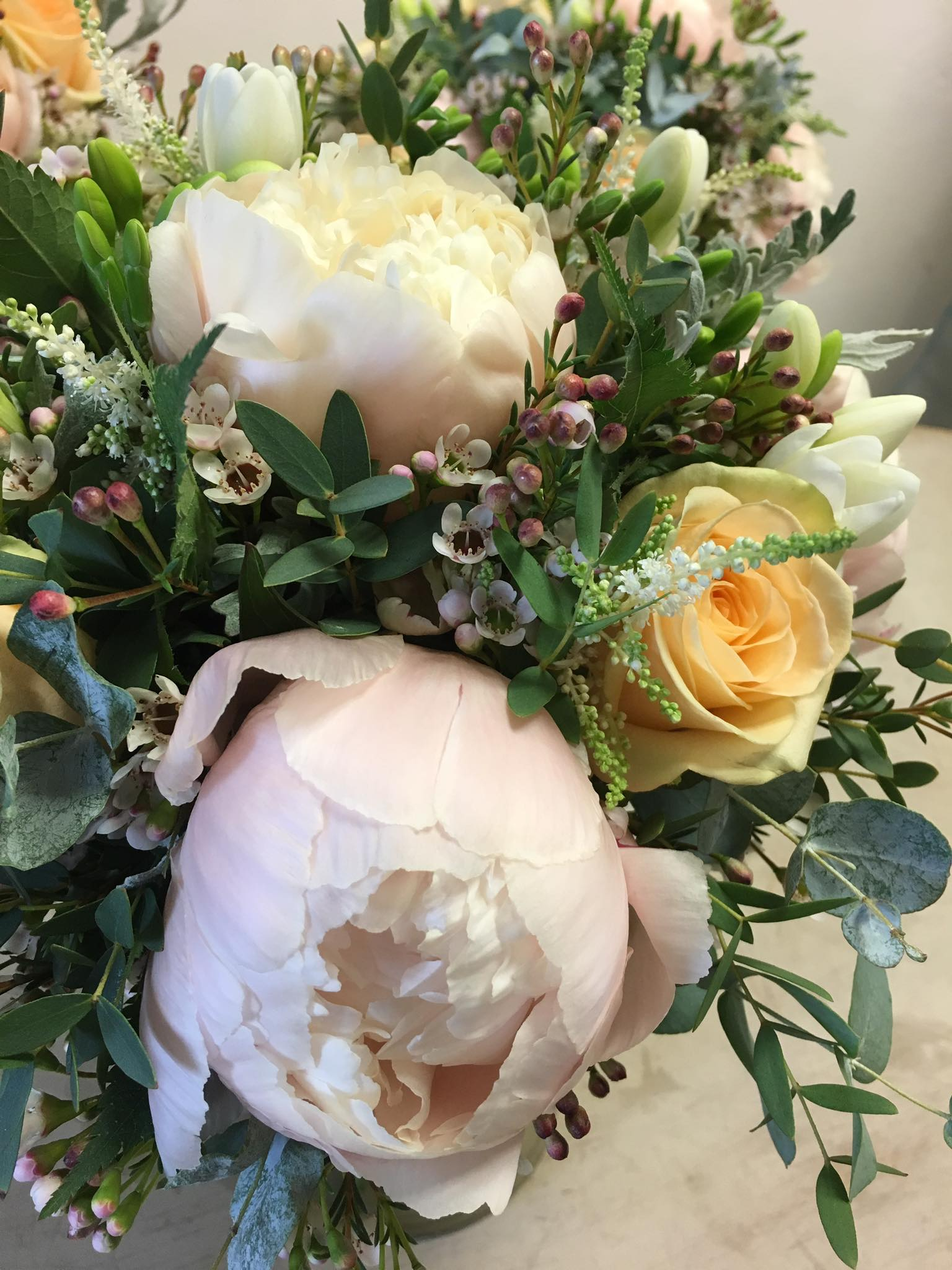 Wedding Bouquet By Flowers By Philippa In Leicesteshire