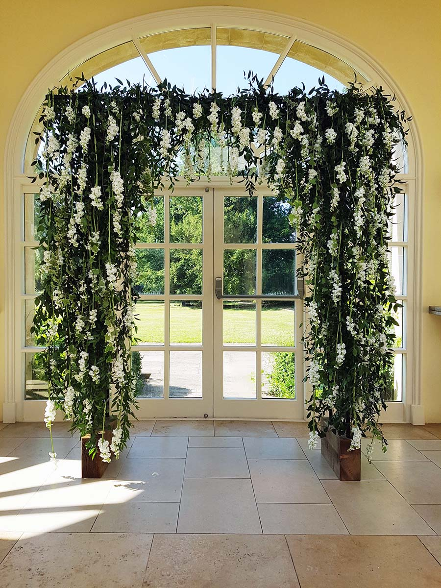 Wedding Flower Arch By Bradgate Flowers In Leicestershire3