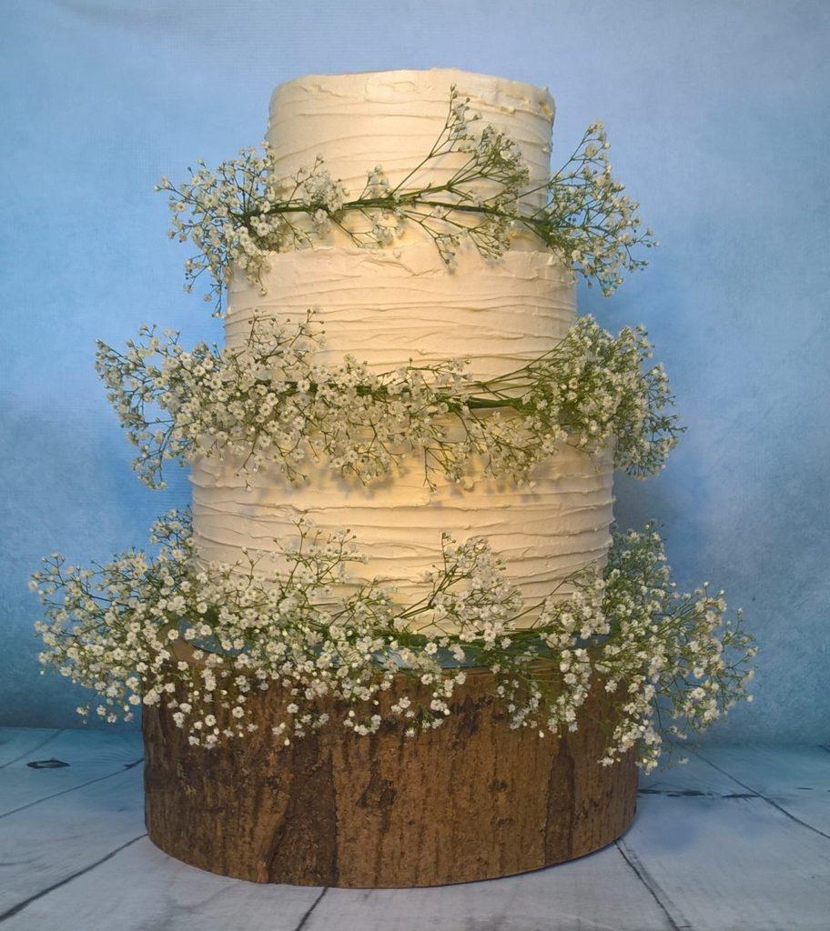 Gypsy - three tier wedding cake by Gardner Cakes