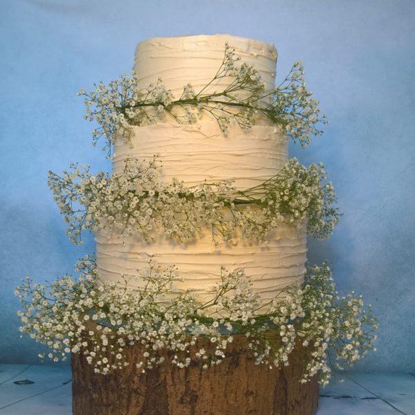 Buttercream Three Tier Wedding Cake By Gardner Cakes, Nottinghamshire