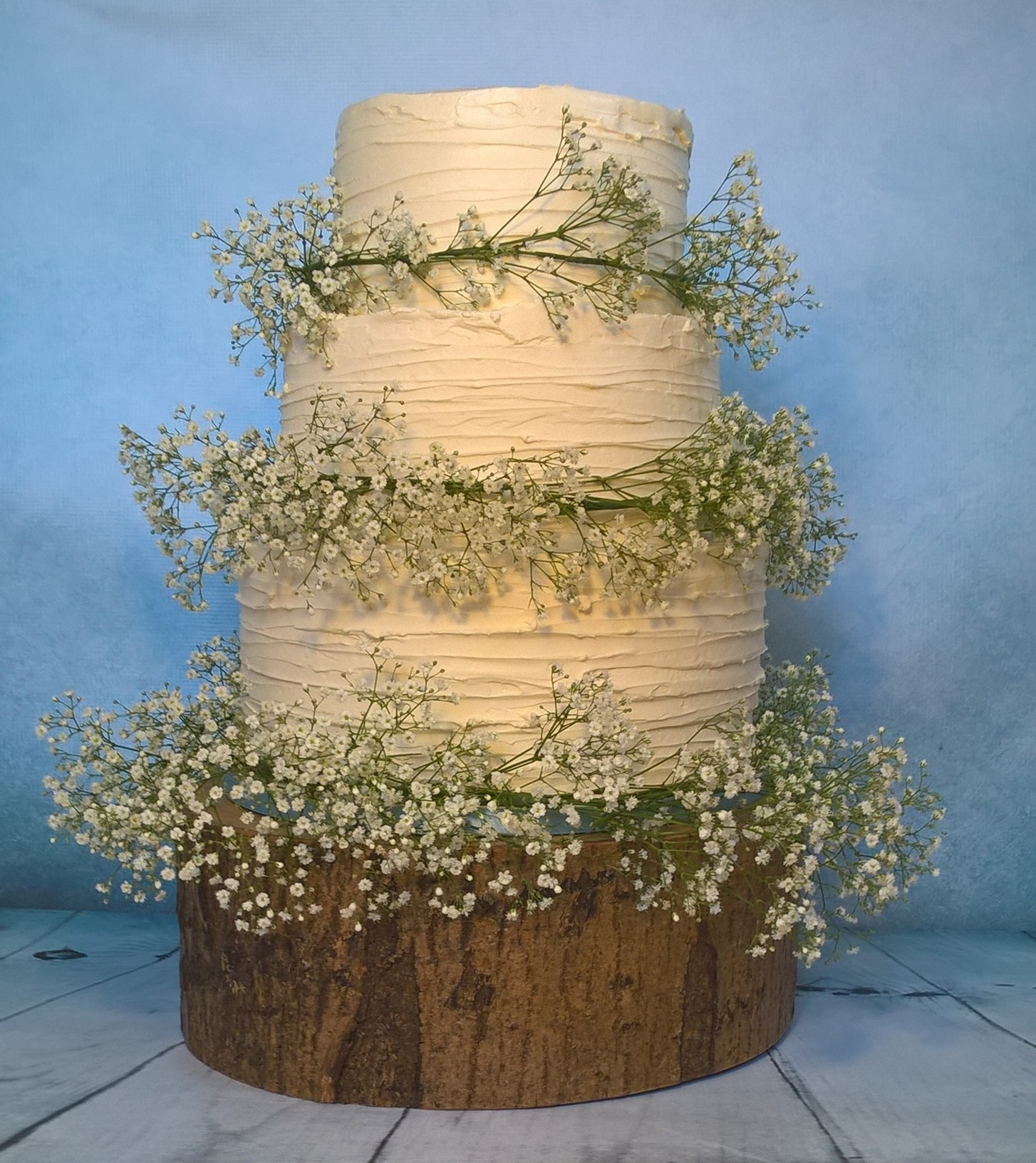 Buttercream Three Tier Wedding Cake By Gardner Cakes, Nottinghamshire