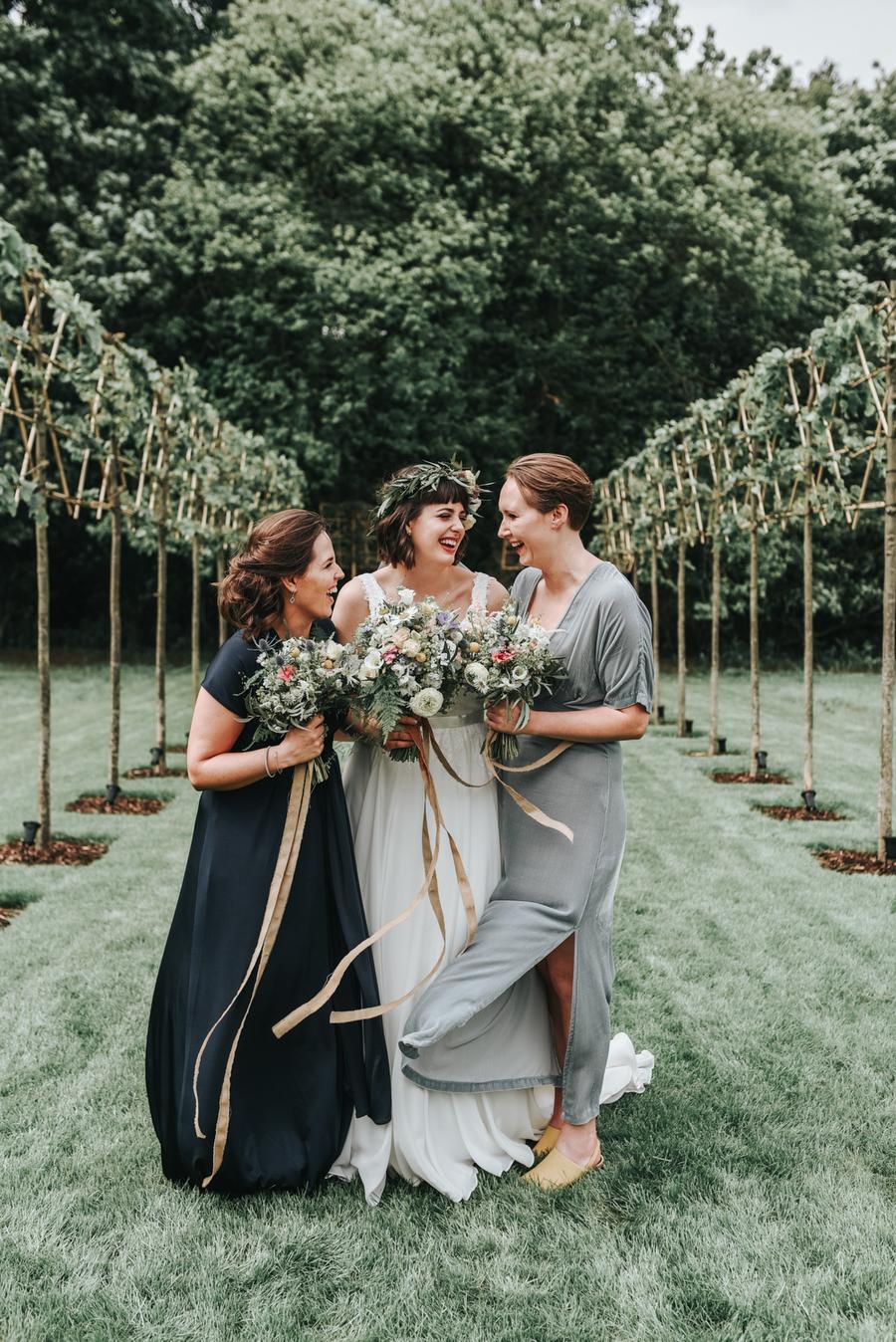 Real Wedding, Barn, Wedding, Bride, Bridesmaid
