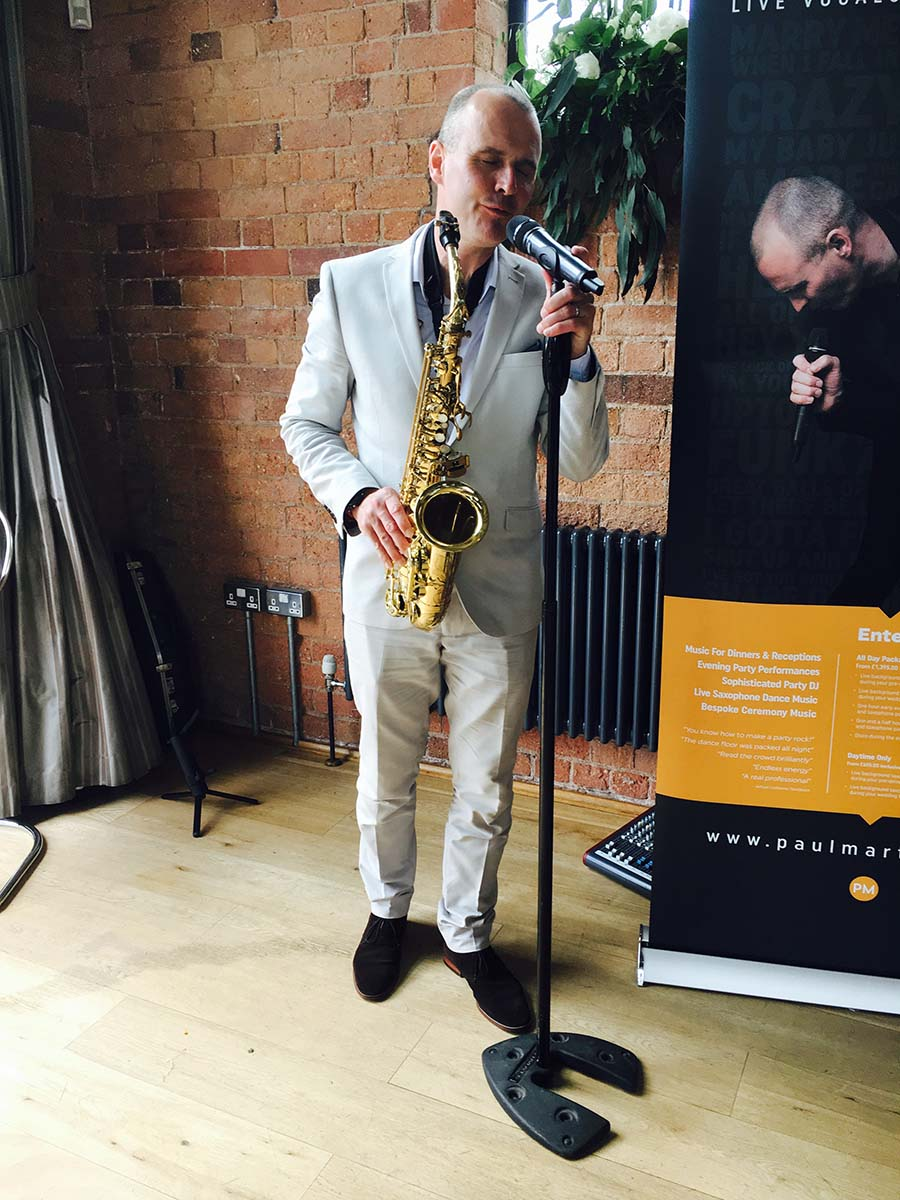 Paul Martyn - DJ, Vocals, Saxophone