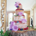 Naked Wedding Cake At Sutton Bonington Hall