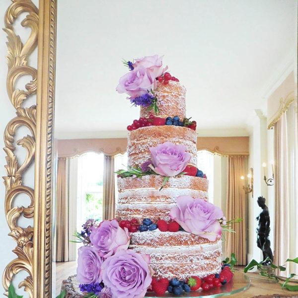 Naked Wedding Cake At Sutton Bonington Hall