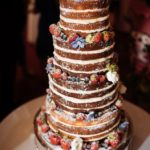 Four-tier Naked Berries Wedding Cake – From £400