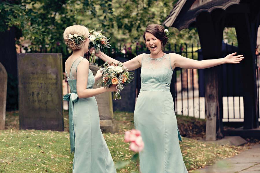 Real Wedding, Prestwold Hall, Bridesmaids, Dottie Photography
