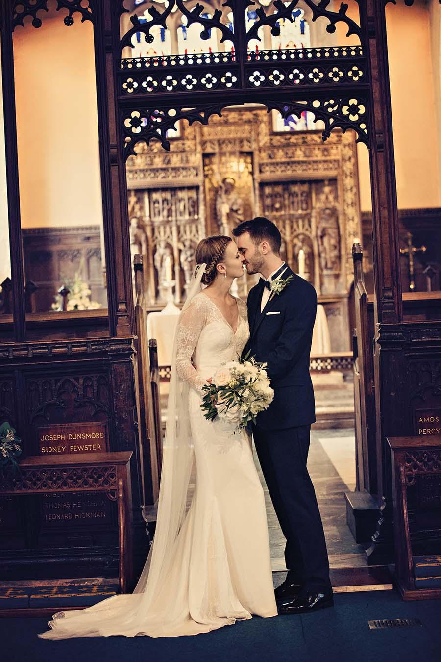Real Wedding, Prestwold Hall, Bride, Dottie Photography, Altar