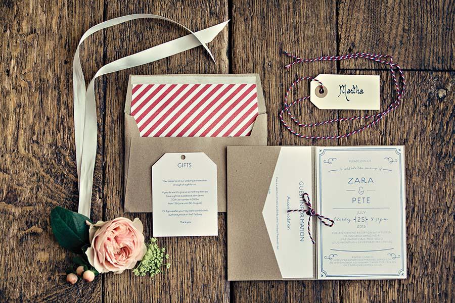 Real Wedding, Prestwold Hall, Dottie Photography, Stationery