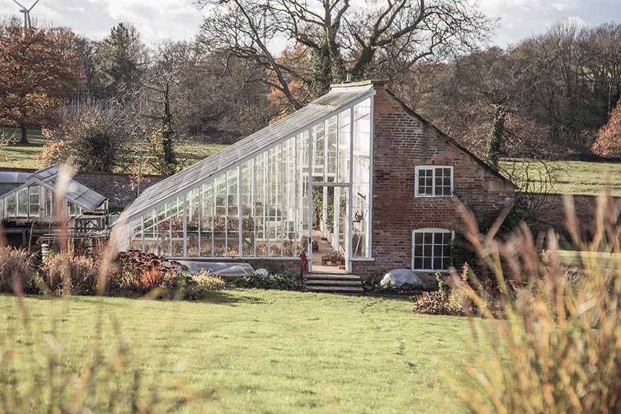 Glass House In The Walled Garden, Kelmarsh Hall Northamptonshire