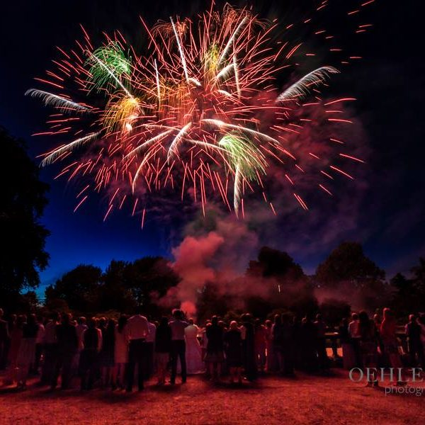 Wedding Fireworks - Oehlers Photography | Nottingham Wedding Photographer