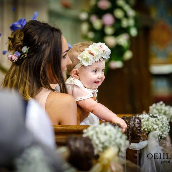 Flower Girl In Church - Oehlers Photography | Nottingham Wedding Photographer