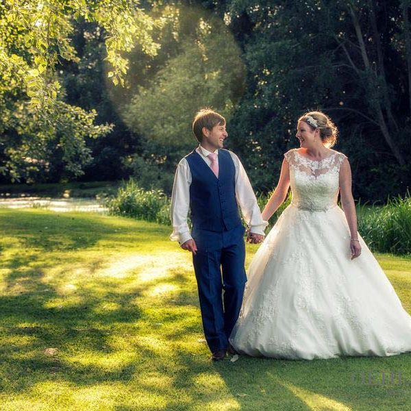 Bride And Groom In The Garden - Oehlers Photography | Nottingham Wedding Photographer