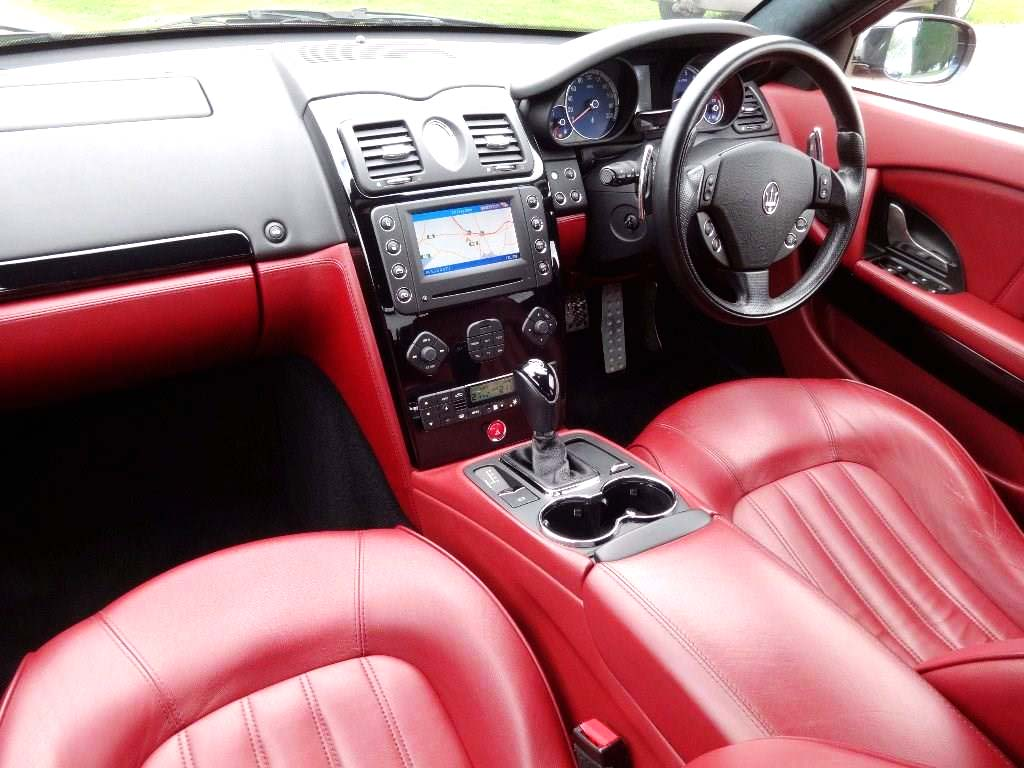 Red Leather Maserati Wedding Sports Car