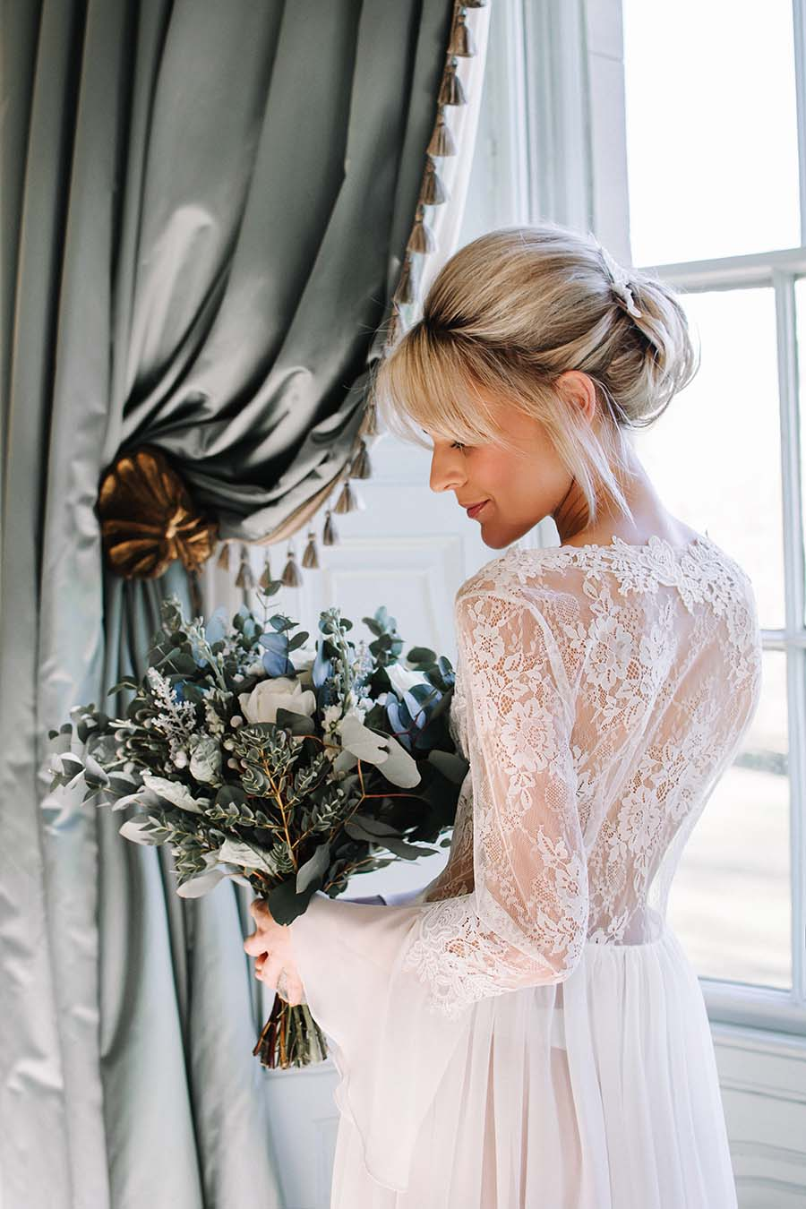 Sheer Lace Brides Robe