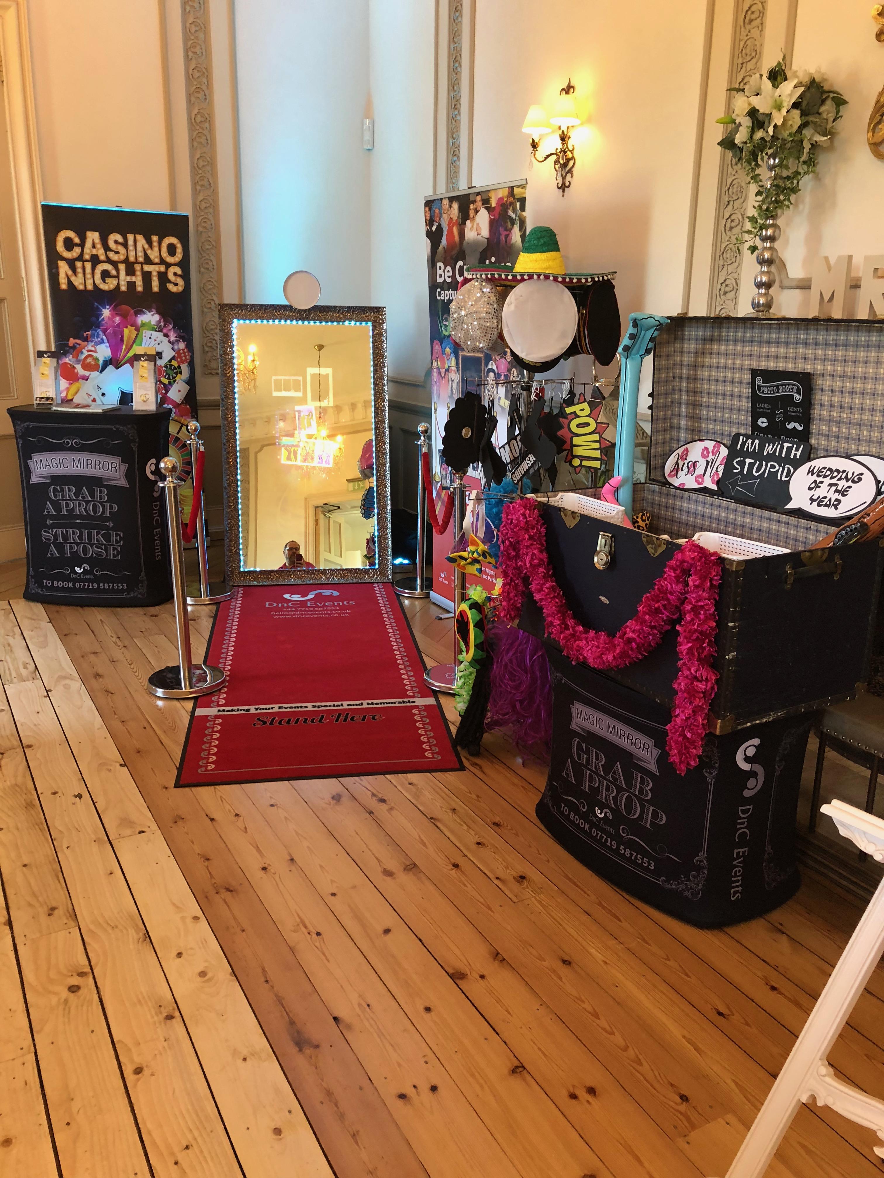 Photobooth, Casino, Magic Mirror