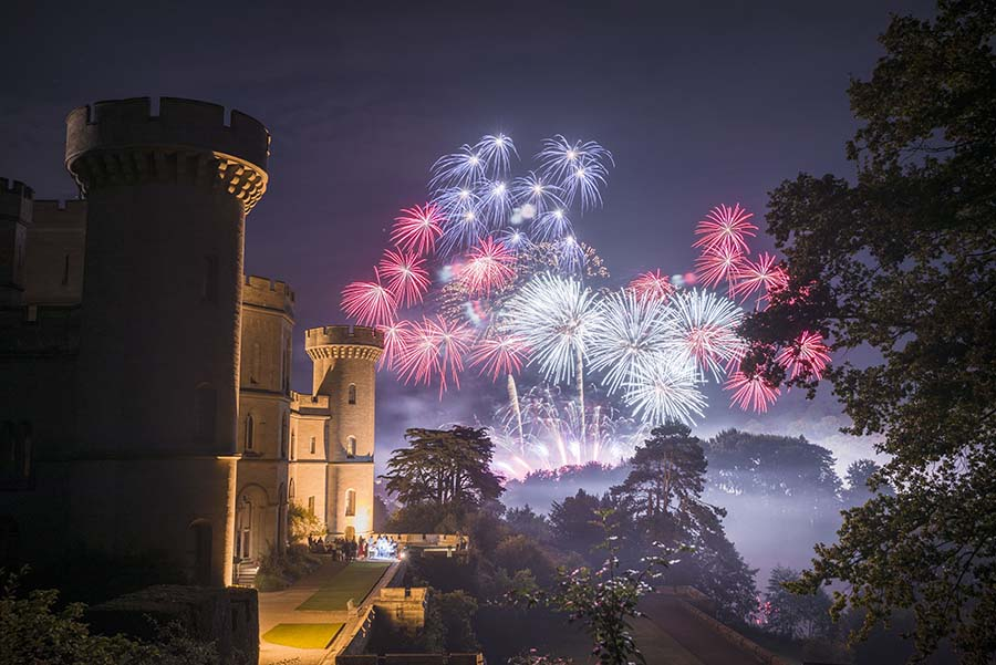 Wedding Fireworks At Eastnor Castle